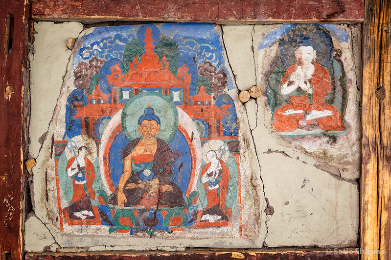 Murals at Thikse