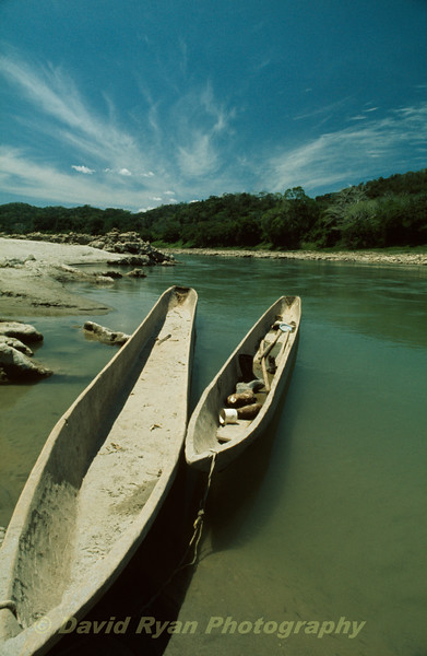 Dugout canoes on the Usumacinta River
