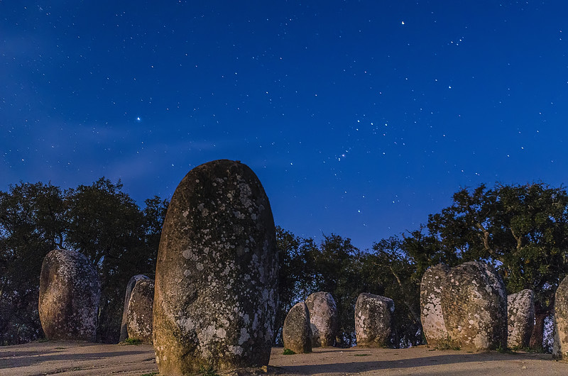 Portugal Cromlech of the Almendres Megalithic Complex Night Photography 14 By Messagez com