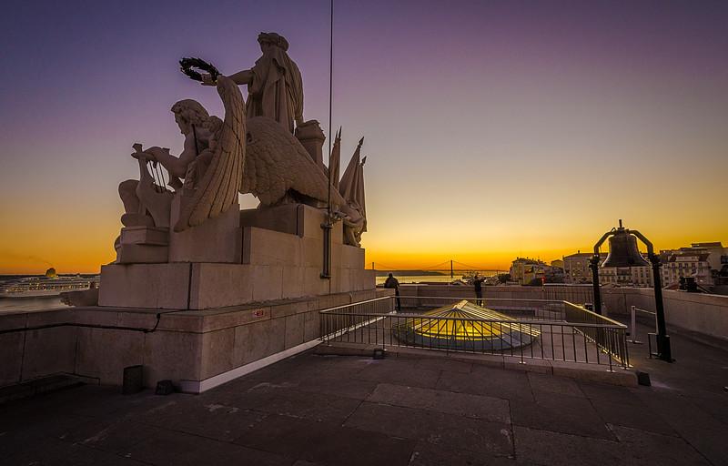 Lisbon Augusta Street Triumphal Arch Viewpoint Sunset Photography 11 By Messagez com