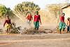 Students bring firewood, Olgirigiri Primary School, Kenya