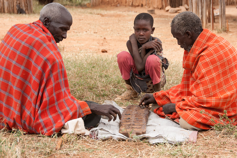 Kahala - a Masai version of Mancala - Il Polei, Kenya