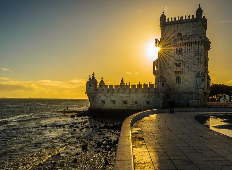 Original Portugal Lisbon Tower sunshine Art Photography 5 by Messagez com