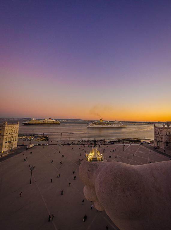 Lisbon Augusta Street Triumphal Arch Viewpoint Sunset Photography 9 By Messagez com