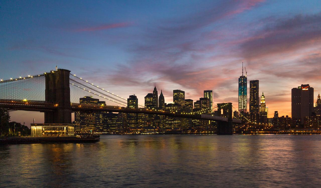 The Brooklyn Brdge and NYC