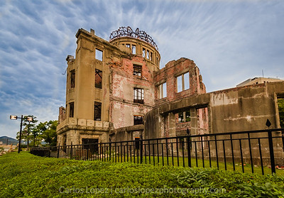 Atomic Dome in Hiroshima, Japan. This was the only structure to withstand the atomic bomb explosion 600ft above Hiroshima.