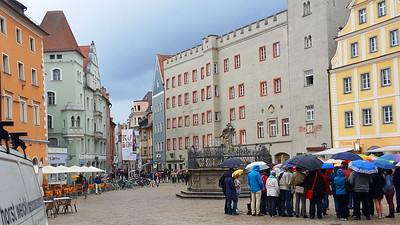 Rainy day in Regensburg