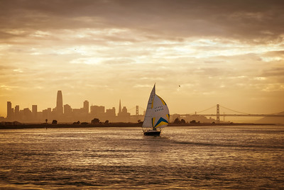Golden Sailboat