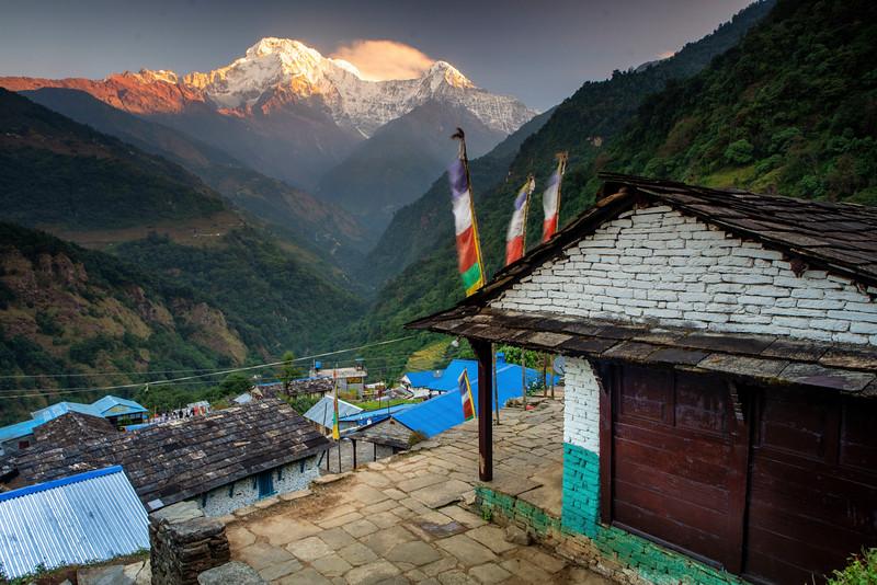 Annapurna South from Ghandruk Village, Nepal