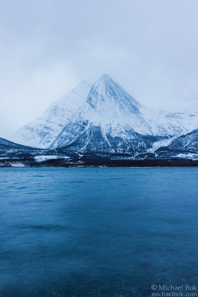 Mountain across the fjord near Nordkjosbotn