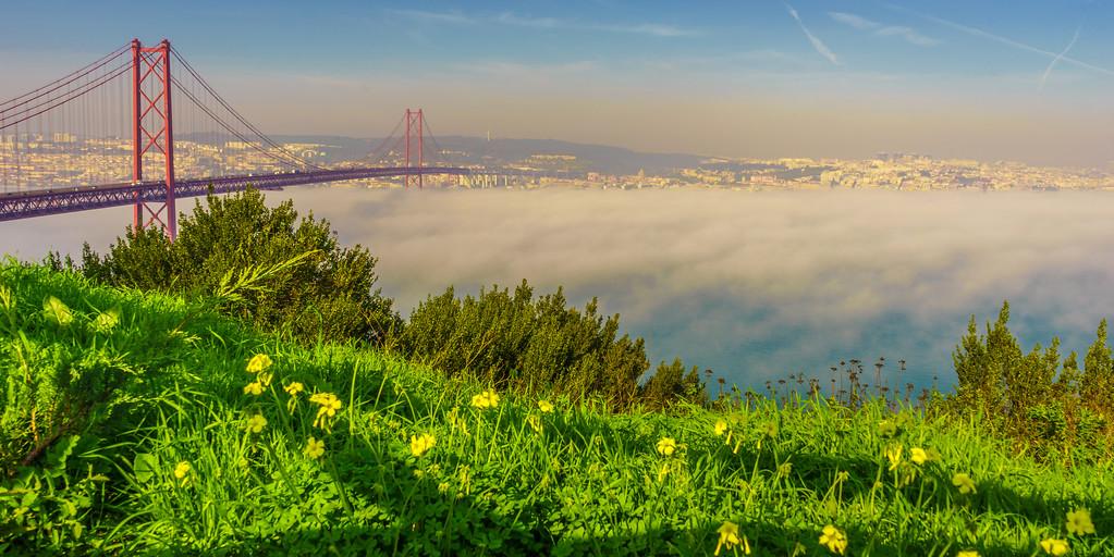 Original Lisbon 25th of April Bridge Landscape Photography 9 By Messagez com