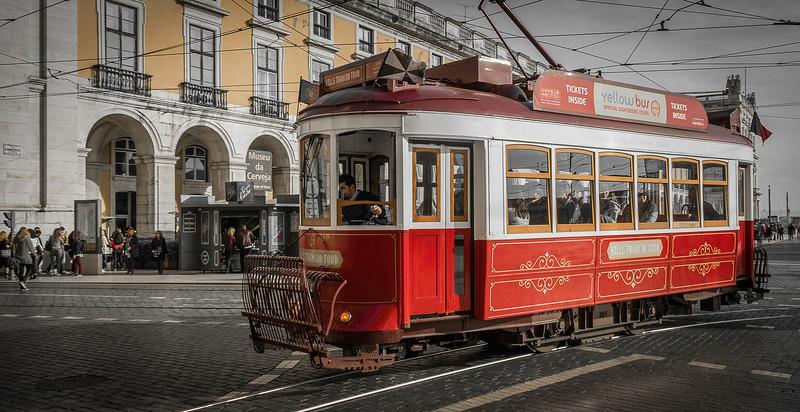Lisbon City Red Tram Photography  Messagez com