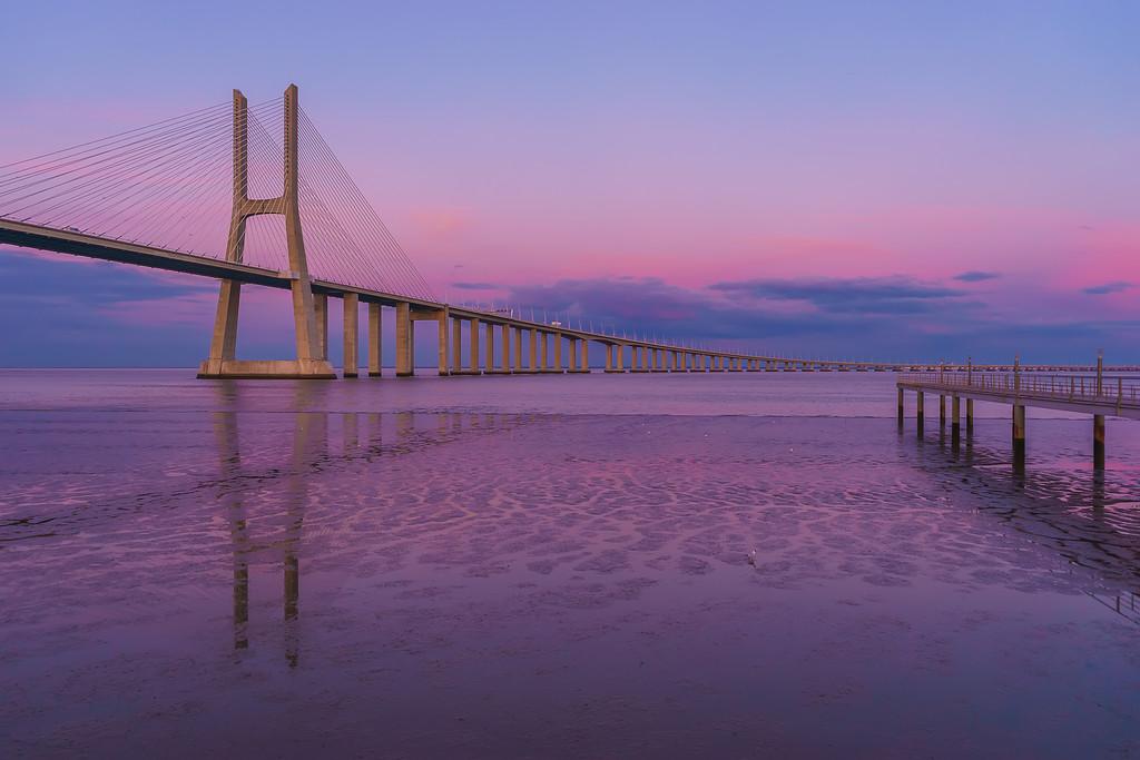 Pink Lisbon Bridge Photography By Messagez com