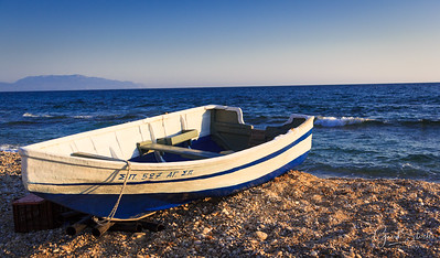 A boat along the shores of Preveza