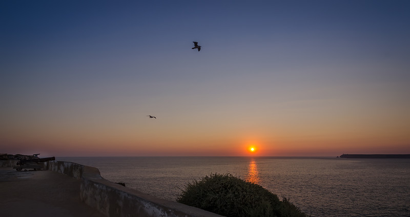 Flying Over Sagres Fortress at Sunset
