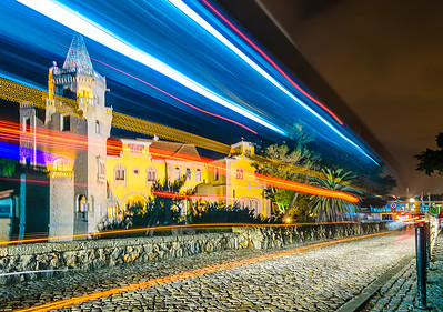 Original Cascais Palace at Night Photography By Messagez com
