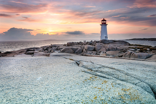 Sunset on Peggy's Cove