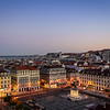 Lisbon Plaza at Blue Hour By Messagez com