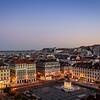 Lisbon Plaza at Blue Hour By Messagez com