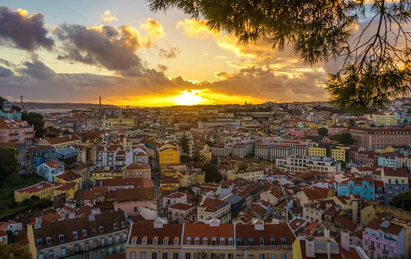 Lisbon Graceland Viewpoint Sunset Photography 2 By Messagez com