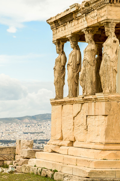 Carytids at the Acropolis, Athens Greece