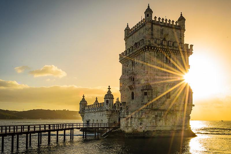 Original Lisbon tower sunshine Art Photography by Messagez com