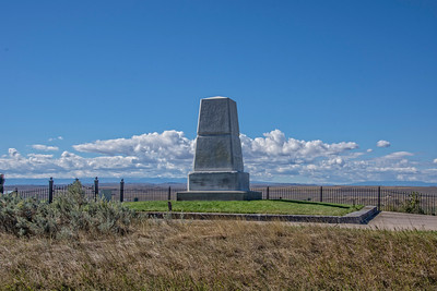 Monument for the solders at the battle of the Little Big Horn – Montana