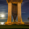 Under Vasco da Gama Bridge Super Moon Photography 2 By Messagez com