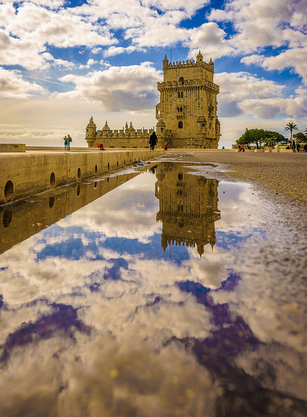 Original Lisbon Tower Reflection Fine Art Photography 2 By Messagez com