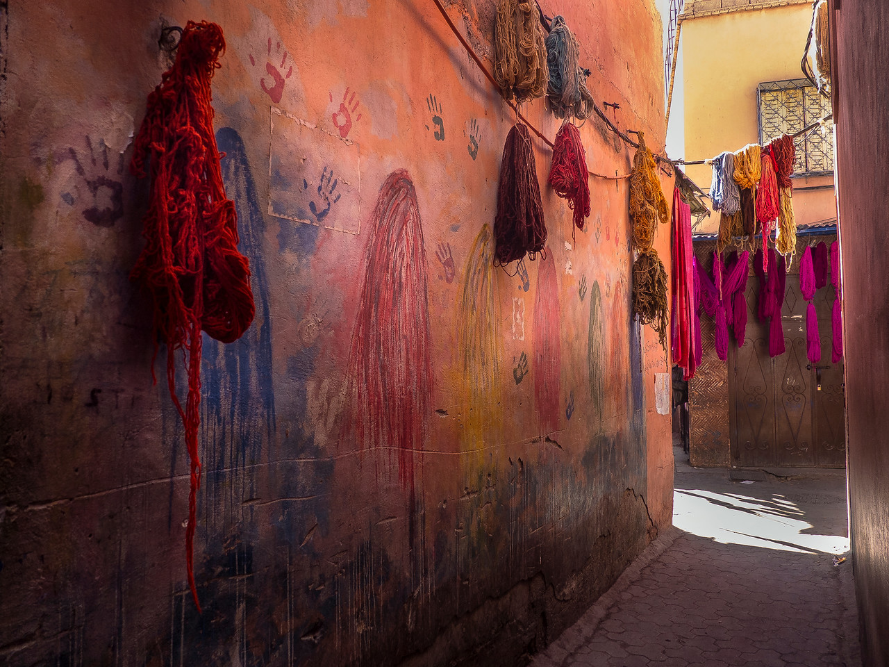 Fabric Dyer's Souk, Marrakech
