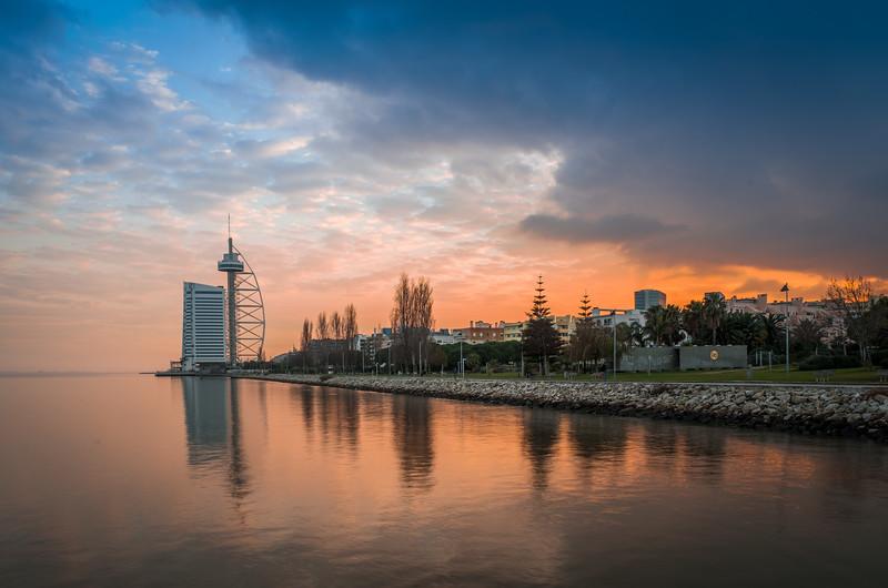 Lisbon Tower at Sunset