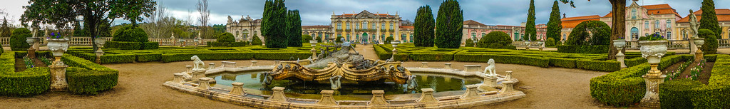 Portugal Queluz National Palace Panorama Art Photography By Messagez com