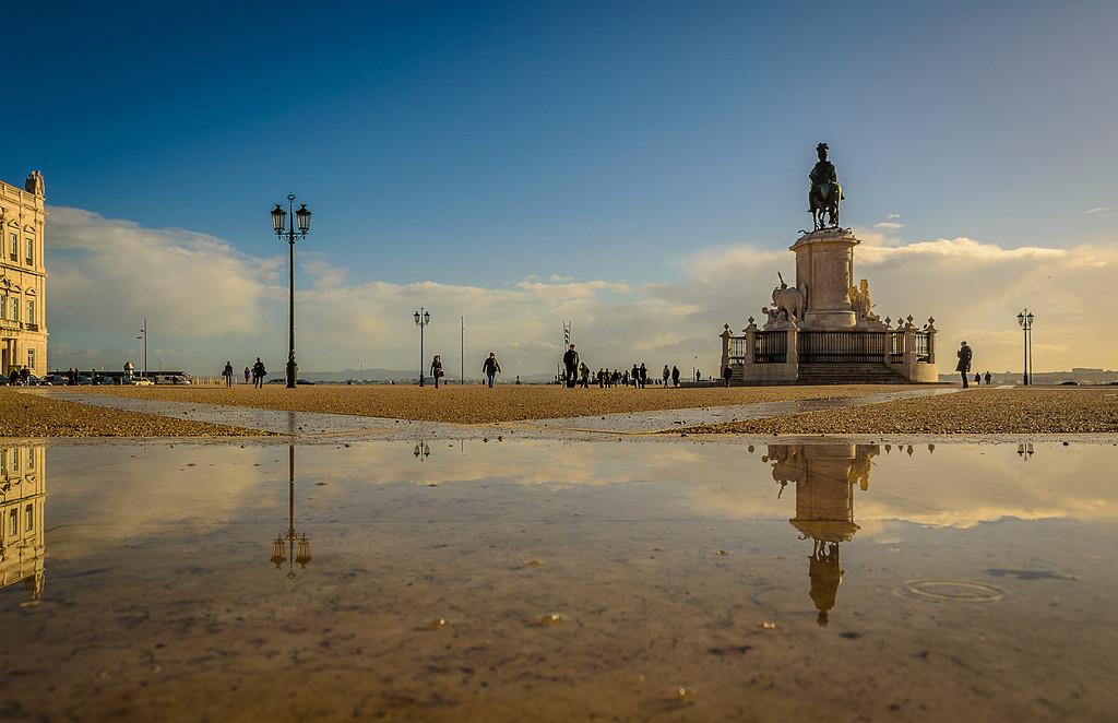 Original Portugal Lisbon City Center Reflection Photography By Messagez com