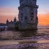 Original Lisbon Tower Sunset Waves Photography By Messagez com