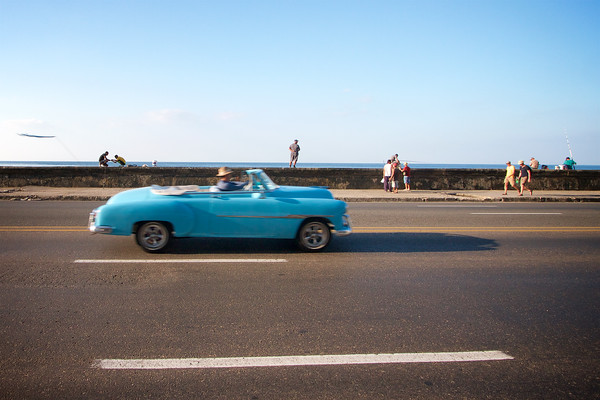 Classic Car on the Malecon