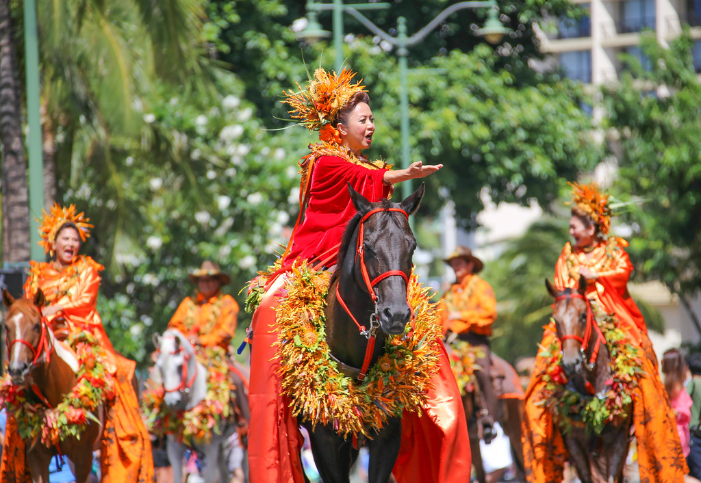 Floral Parade, Honolulu, Oahu, Hawaii.