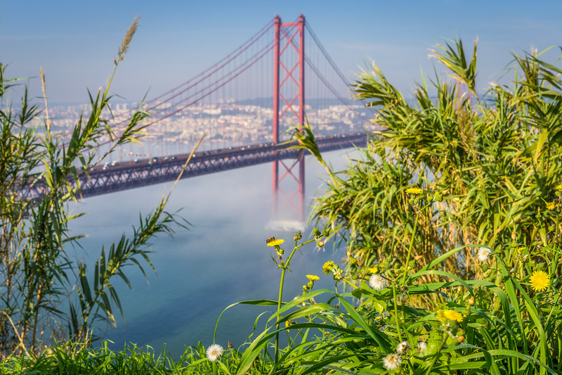 Original Lisbon 25th of April Bridge Landscape Photography 13 By Messagez com