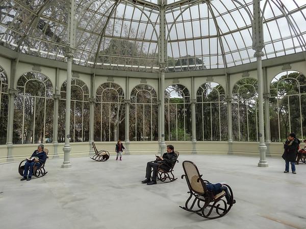 Palacio de Cristal, in Parque del Retiro, Madrid
