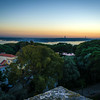 Original Portugal Lisbon Castle Viewpoint at Sunset Photography By Messagez com