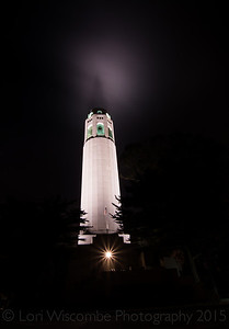 Coit Tower  illumination