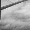 Original Lisbon 25th of April Bridge Landscape Photography BW 3 By Messagez com
