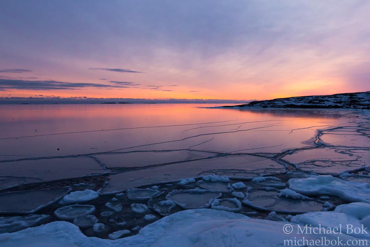 Frozen Gulf of Finland