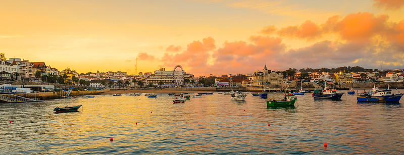Cascais Portugal Center at Sunset Photography By Messagez com