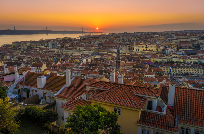 Inside The Lisbon Castle at Sunset Photography By Messagez com