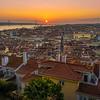 Inside The Lisbon Castle at Sunset Photography By Messagez com