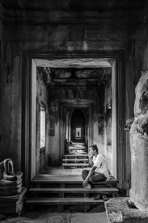 SEEKING CONNECTION, ANGKOR WAT, CAMBODIA, 2015.