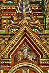 Russia, St. Petersburg,The Church of Our Savior on the Spilled Blood (Where Tsar Alexander II was assasinated in 1881), Detail of exterior
