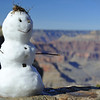 Snowman on the South Rim of the Grand Canyon