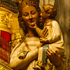 Discovered in a church in Toledo, Spain.<br /> Never seen the Madonna with a smile on her face and her son tickling her chin!  Cute.