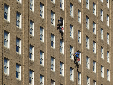 Boston.  High rise Window Cleaners